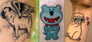tatuagens de cachorrinhos delicadas