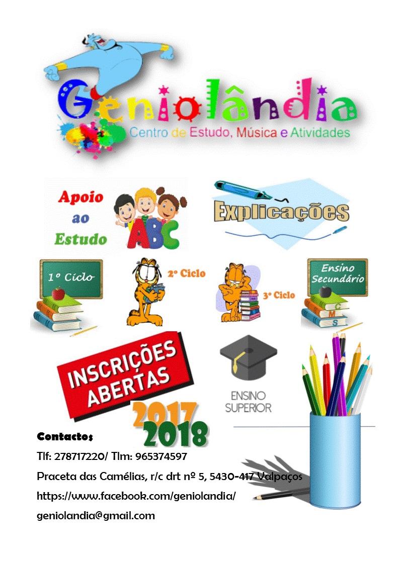 Inscrições Abertas 2017/2018