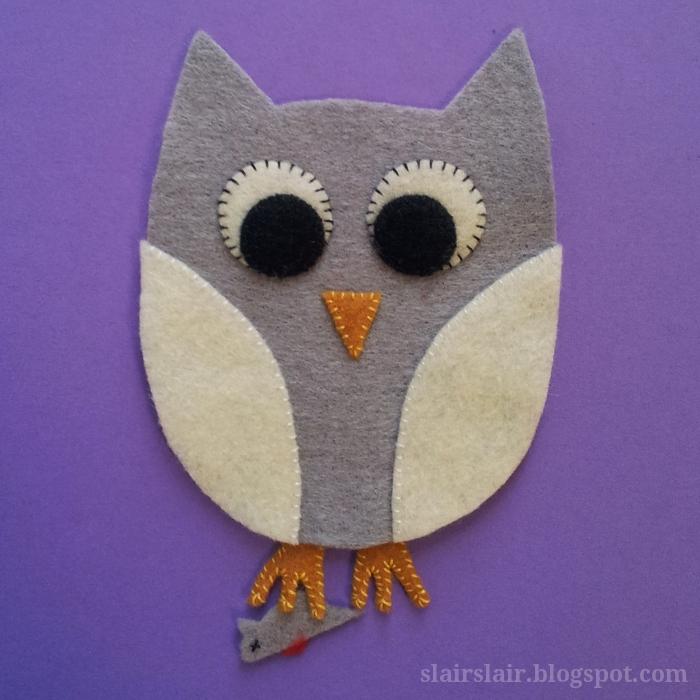 Slair\'s Lair: Felt Owl Pattern