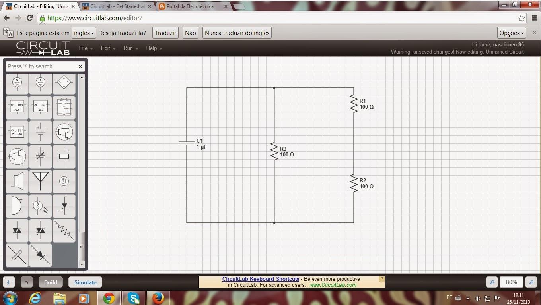Circuito Eletricos : Portal da eletrotécnica site americano permite desenhar circuitos