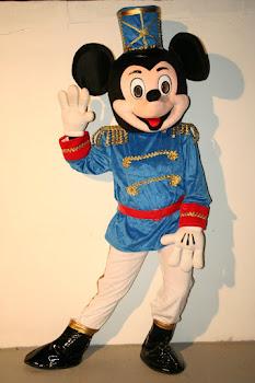 Mascote Mickey Azul