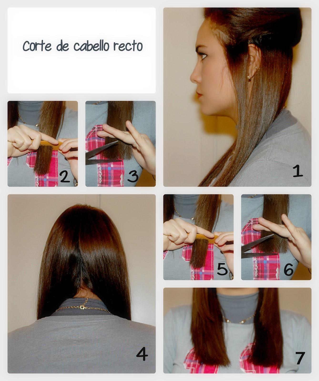 Como cortar el cabello recto una misma