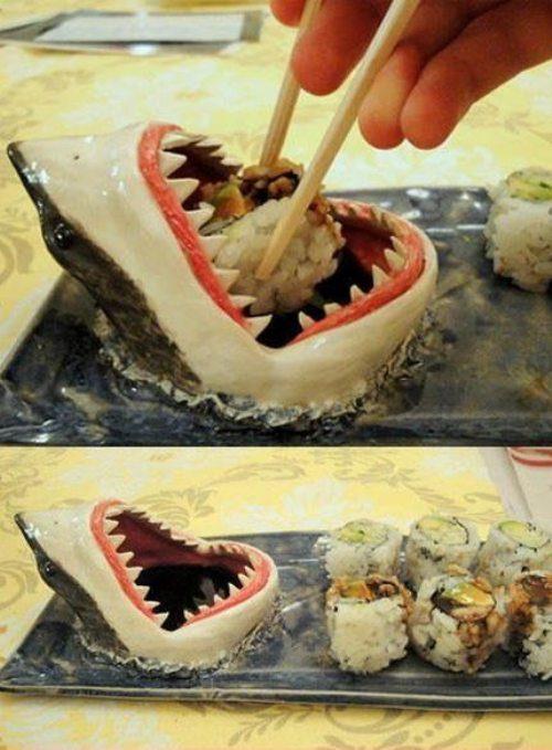 Criatividade, playing with your food, tubarão, sushi, Brincando com a comida. Até sua mãe ficaria orgulhosa com essas obras de arte!, eu adoro morar na internet