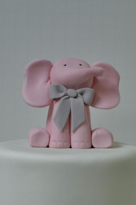 pink elephant fondant cake topper - sweet cakes by rebecca