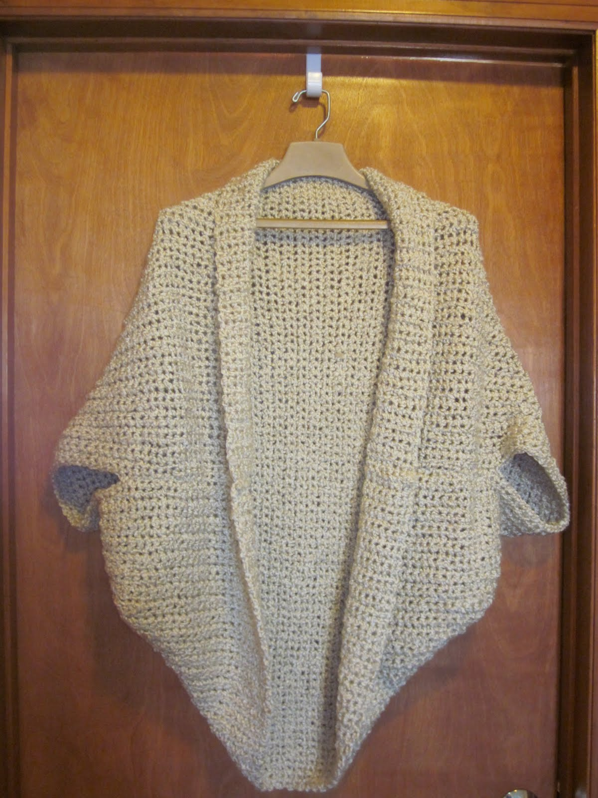 Free Crochet Pattern Simple Shrug : The Crafty Novice: DIY: Comfy Crochet Shrug