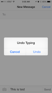 iPhone Shake Undo Typing