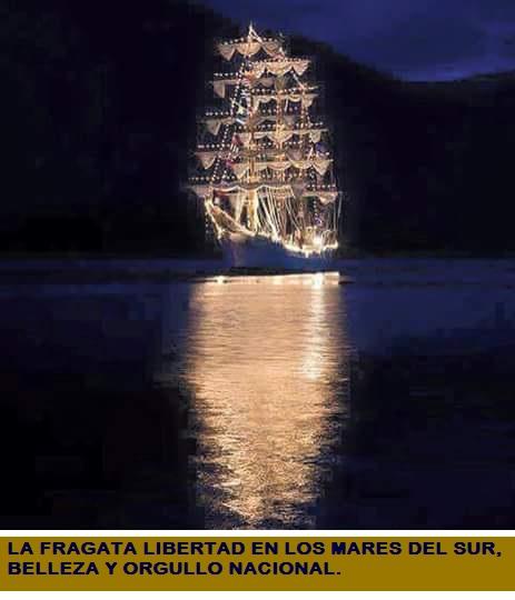 LA FRAGATA LIBERTAD EN LOS MARES DEL SUR.