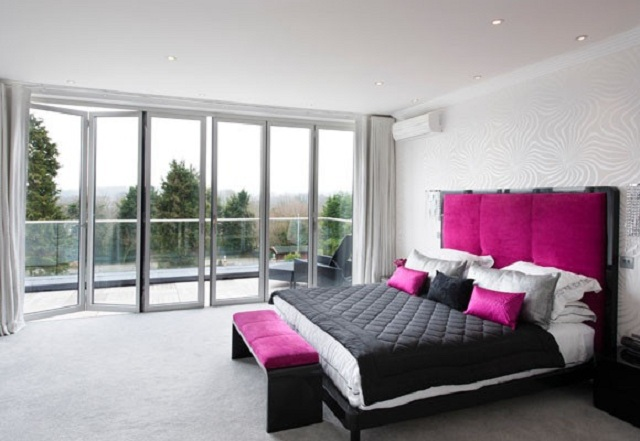 Dormitorios juveniles de color fucsia for Decoracion para pared fucsia