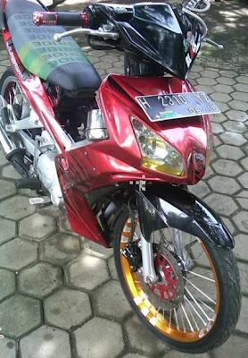Modifikasi Jupiter Mx Merah Putih