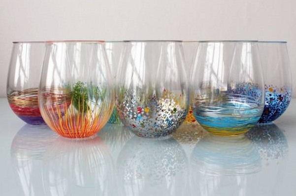 C mo decorar vasos de vidrio con plumones de aceite for How to learn glass painting at home