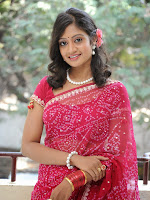 Sandeepthi glamorous pink saree photo shoot-cover-photo