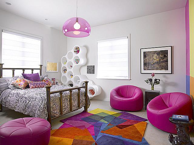 Une chambre dado mariant les styles le vintage et le contemporain sassocient pour un résultat étonnant