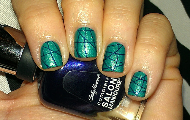turquoise foil shimmer navy stamping