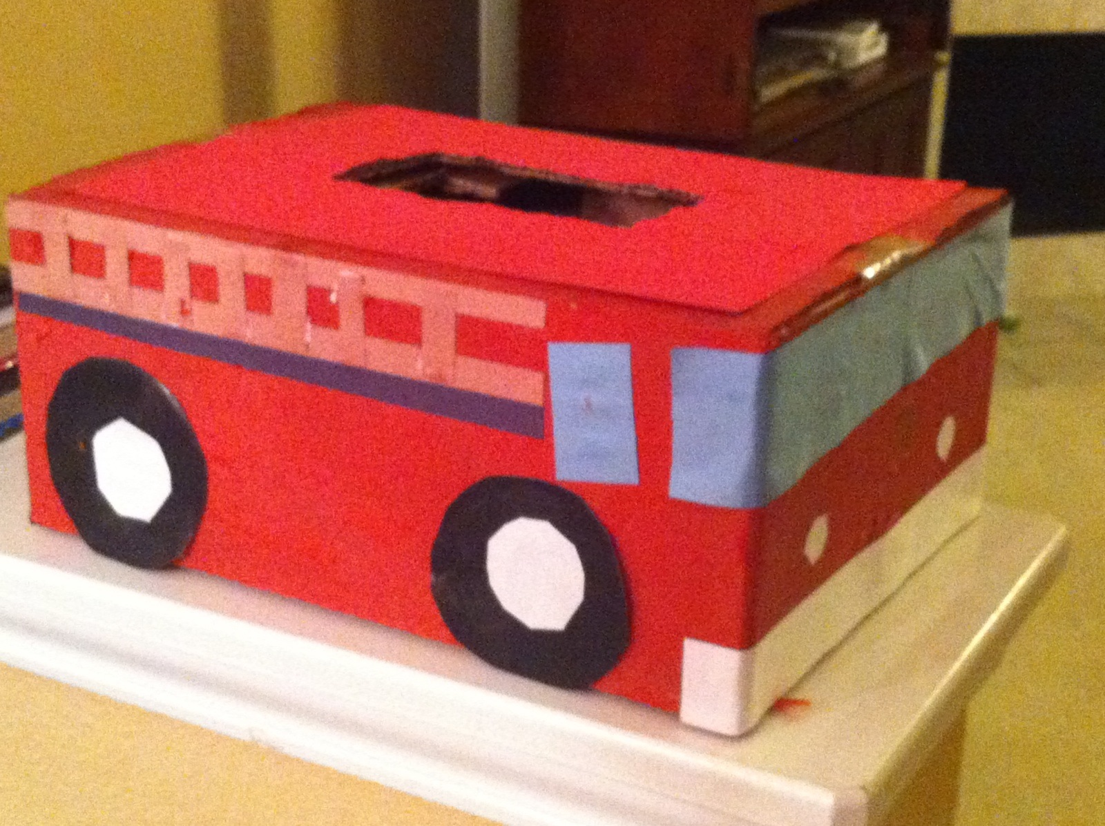 Andrew Read And Followed The Directions To Make This Fire Truck Valentine  Box. The Original Instructions Were For A Fire Truck Toy Box, But He  Adapted It By ...