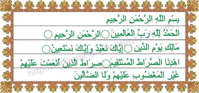 Vector Surat Al-Fatihah