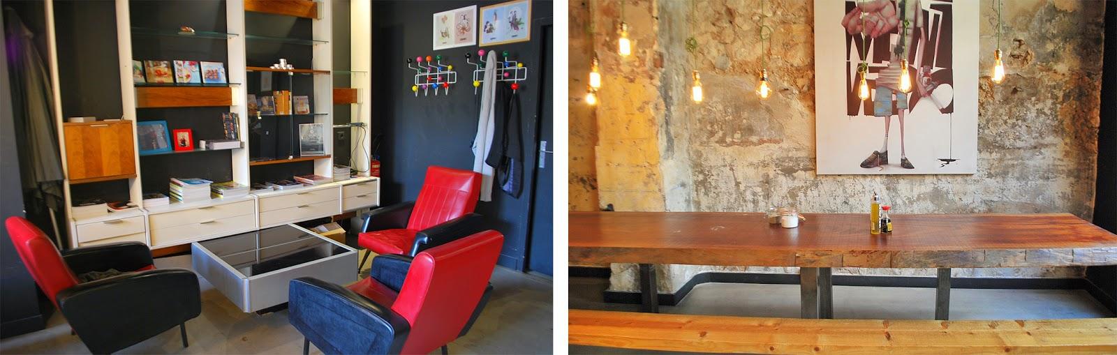 décoration spok marseille timone, table, coin repos, fauteuils