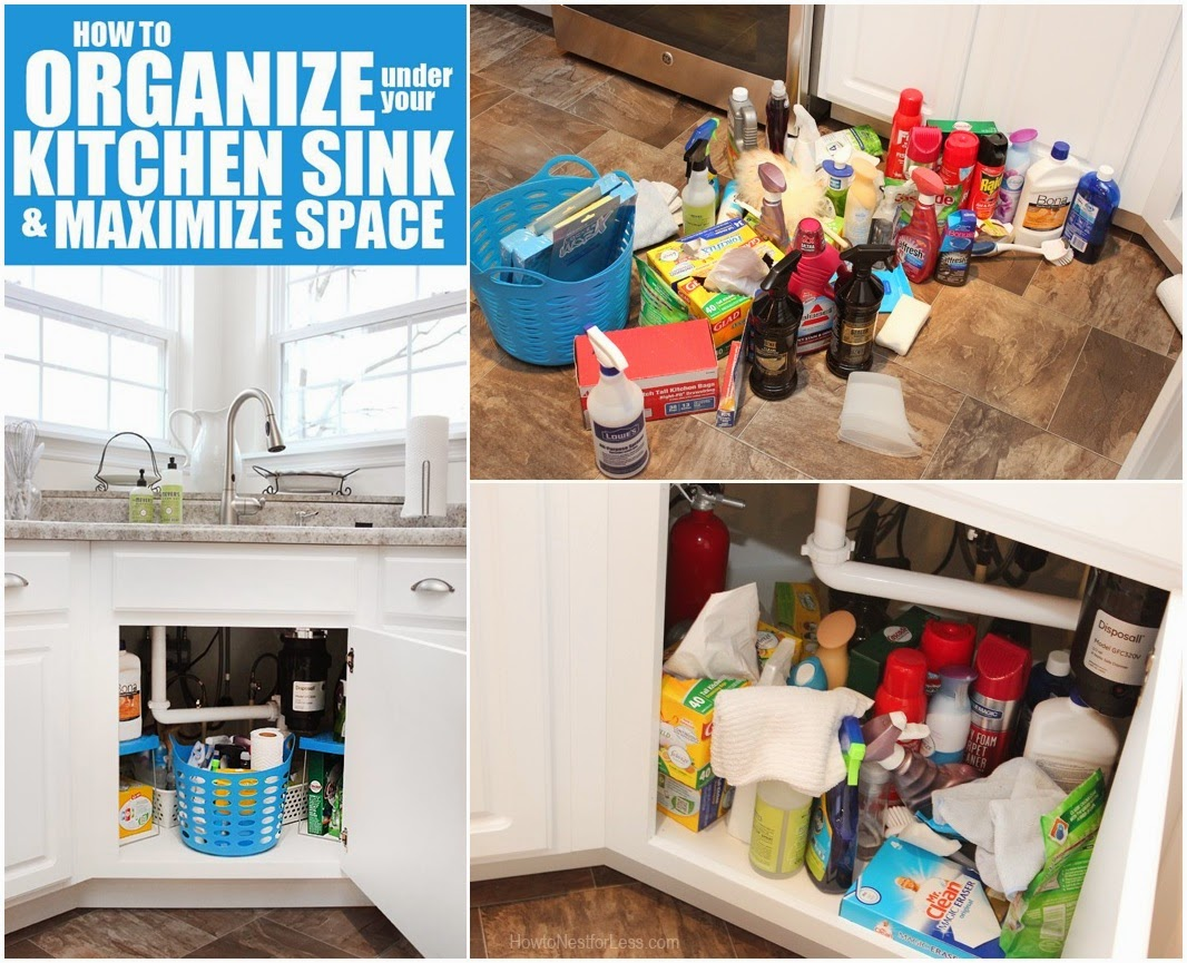How to Organize Under Your Kitchen Sink & Maximize Space