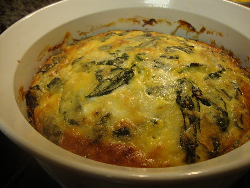 Small Talk: Swiss Chard and Goat Cheese Custard Bake
