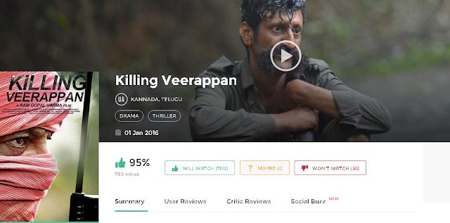 Killing Veerappan 2015 Telugu Movie 300mb and Mp4 Free