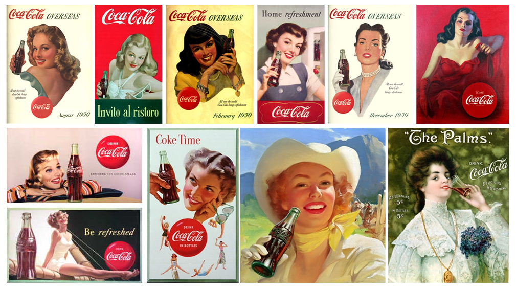 History Is Classic Coca Cola Girls