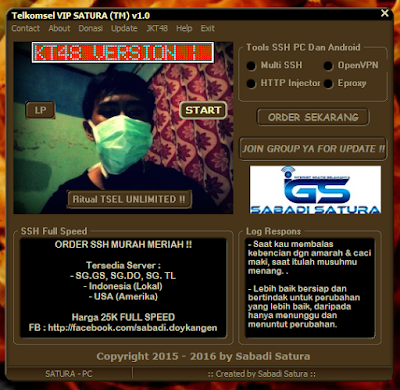 Download Inject Telkomsel VIP SATURA (TM) v1.0