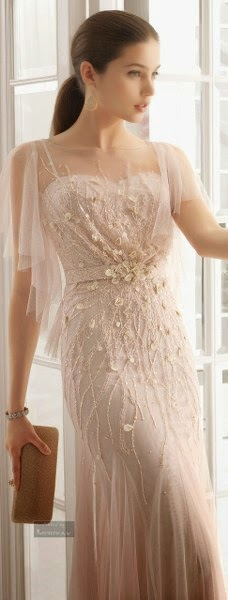 Very Beautiful, Long Wedding Dress, Mini Clutch And Simple, But Lovely Accessories.