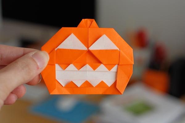 origami jackolantern how about orange