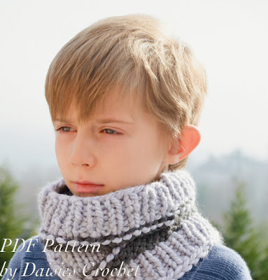 knitting boy cowl pattern