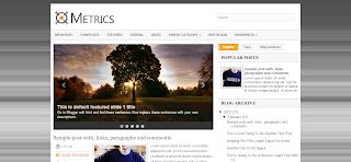 Metrics Blogger Template