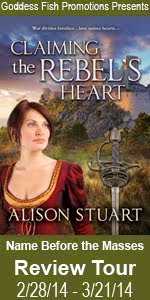 Claiming the Rebel's Heart Blog Review Tour