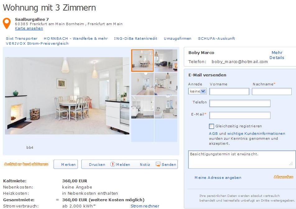 Wohnungsbetrug Blogspot Com 2 Dezember 2012