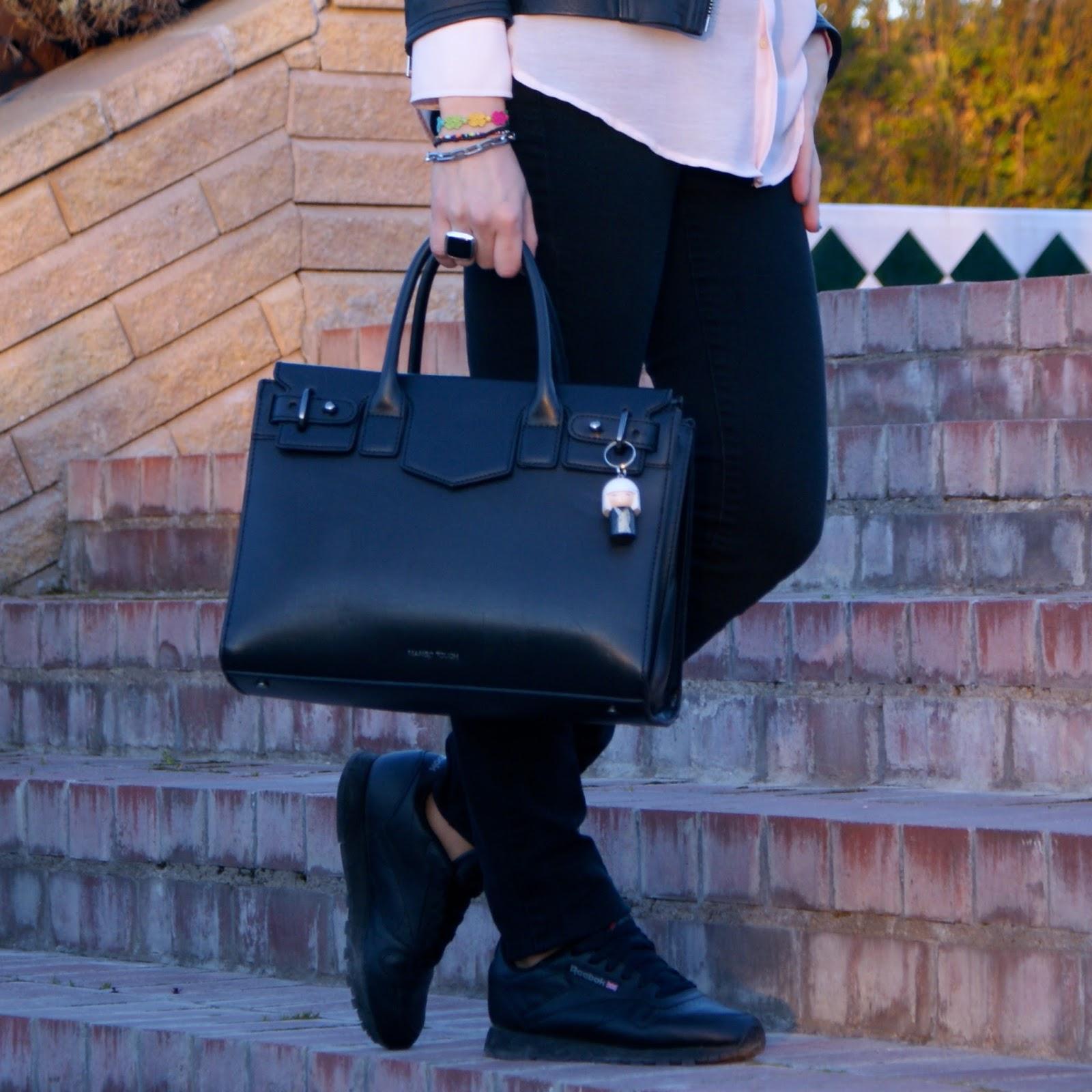 lacaprichossa, fashion blogger, reebok classic, perfecto jacket, cruciani, tous