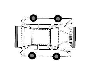 Afbeelding van de auto van papier