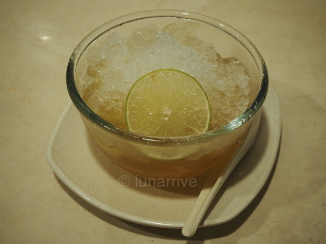 Spicy Thai Thai Cafe Lemongrass Jelly with Aloe Vera Cubes & Calamansi Food Review Lunarrive Singapore Lifestyle Blog