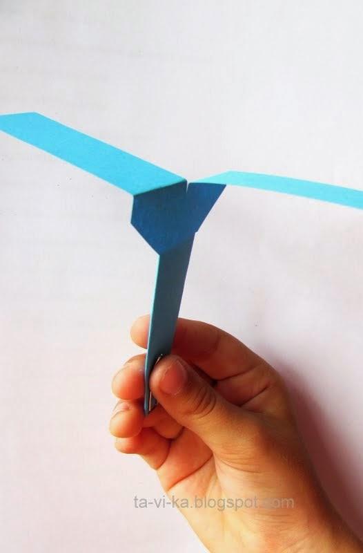 как сделать вертолетик из бумаги