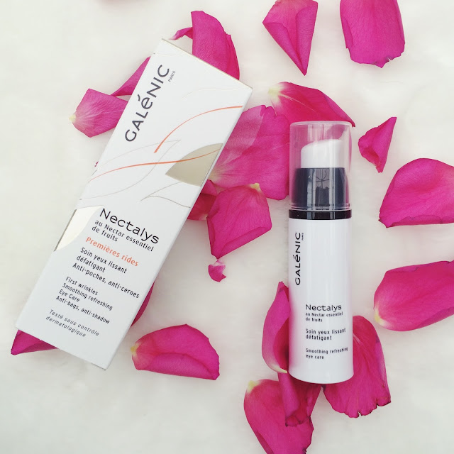 Galenic Nectalys Smoothing Refreshing Eye cream review. Does this eye cream really help smooth fine lines and reduce the look of dark circles?