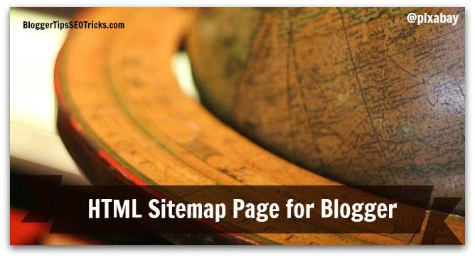 how to add html sitemap widget in blogger