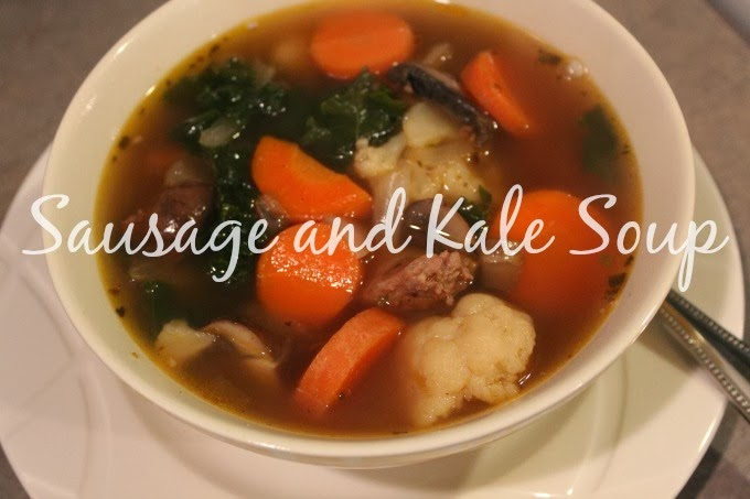 healthy soup sausage and kale soup