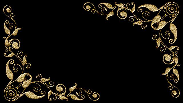Molduras arabescos dourados 11 png