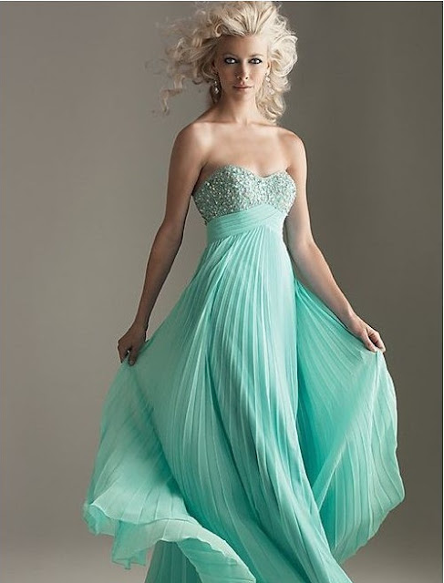 Chiffon Sweetheart with Empire Waist A-Line Prom Dress