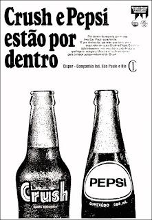 Pepsi Cola, Crush, Propaganda anos 70; História dos anos 70; Brazil in the 70s. Oswaldo Hernandez.