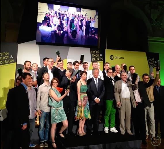 trophée totem lyon shop & design cci lyon lauréats