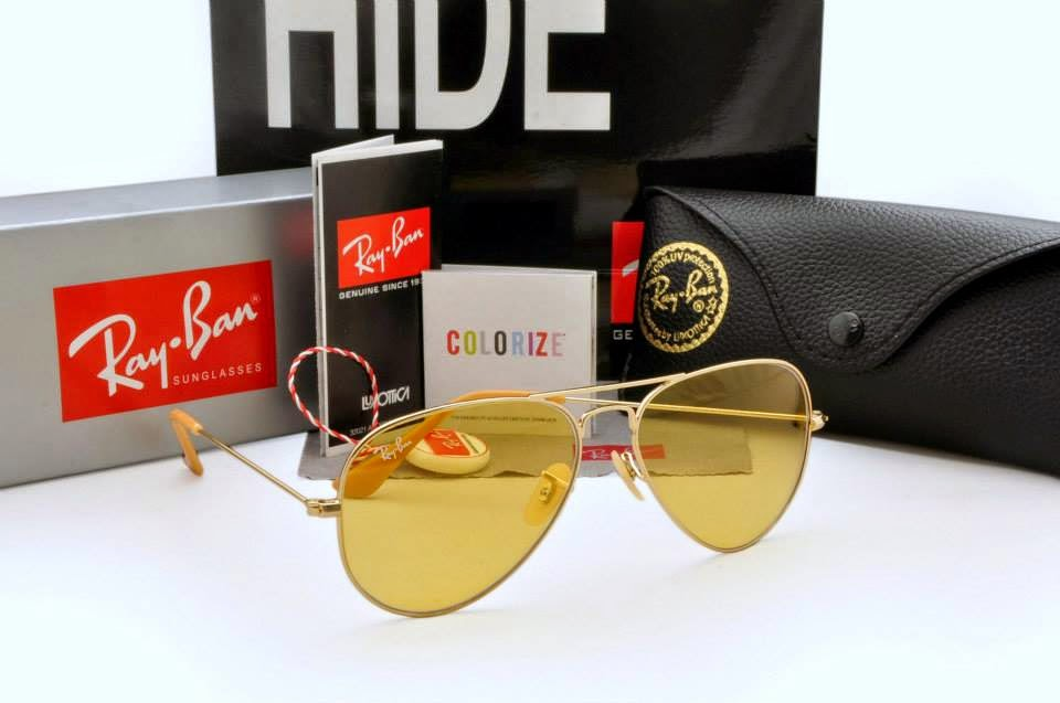 Ray Ban Glasses Frame Malaysia : Ray Ban - Aviator Gold Frame, Light Yellow Lens Ray Ban ...