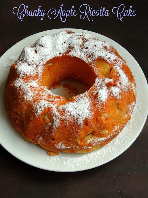 Chuncky Apple ricotta cake, Apple ricotta cake