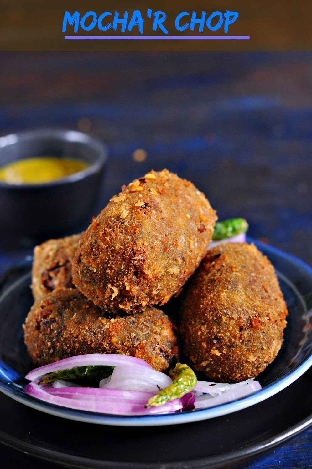 Mochar Chop (Banana Flower Patty, no onion-garlic)