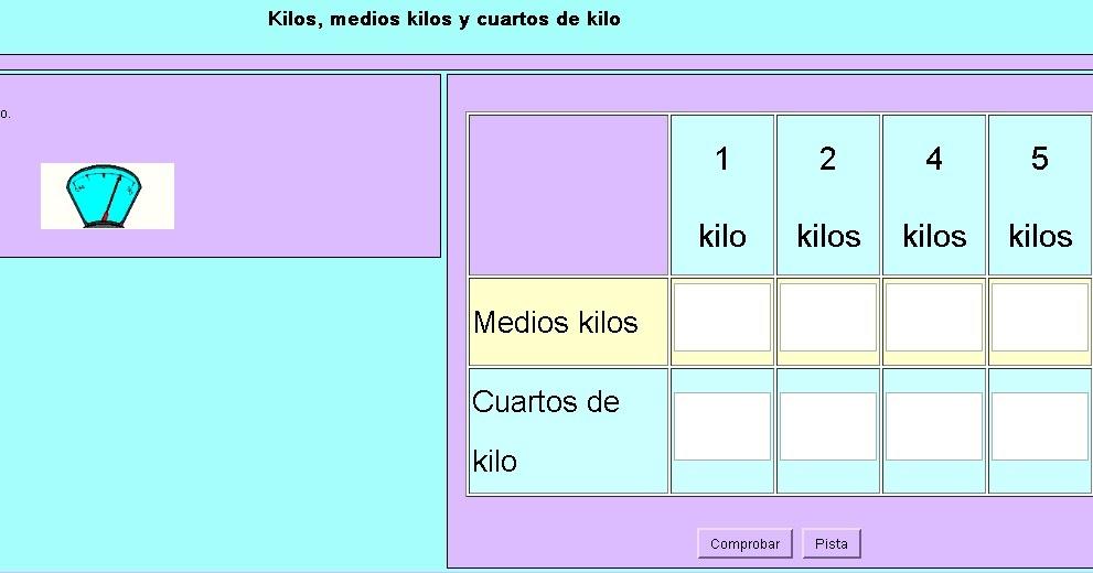 Ceip hern ndez c novas kilo medio kilo y cuarto de kilo for Un cuarto de kilo