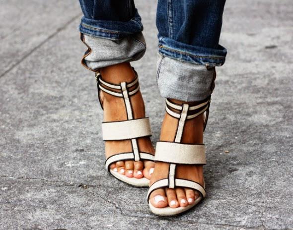 Hermosas sandalias de tacón 2015