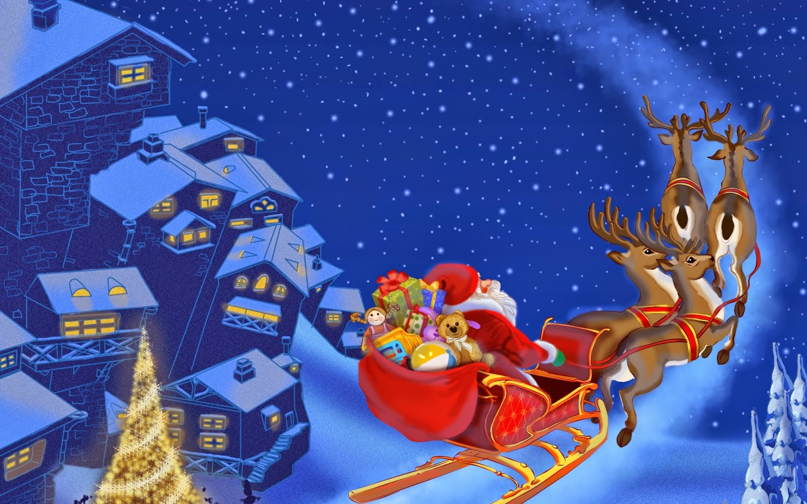 Santa-in-his-sleigh-flying-over-snow-city-cartoom-picture-image-for-kids.jpg
