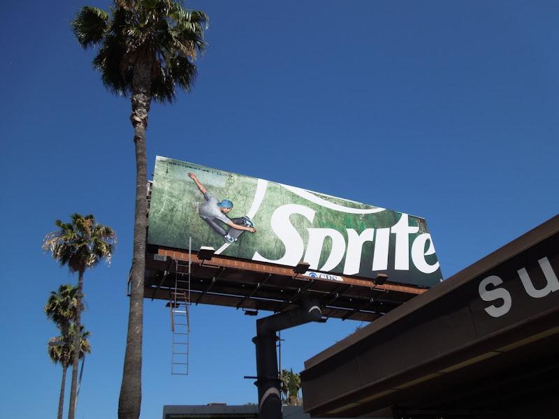Sprite skateboarder billboard