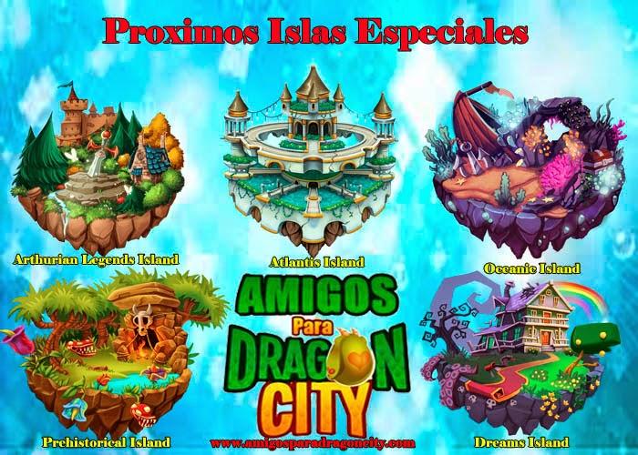 imagen de las proximas islas especiales de dragon city